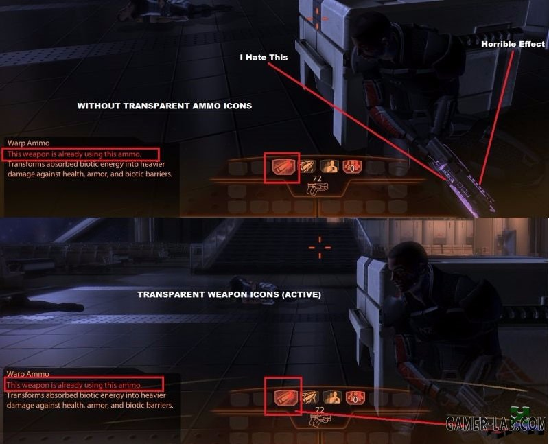 Transparent Ammo Icons (Player and AI)