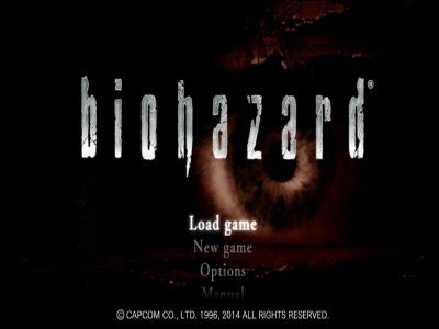 Главное меню Biohazard HD REMASTERED